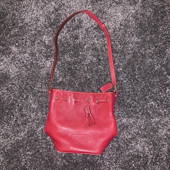 Coach Handbags - Small Vintage Red Coach Bag